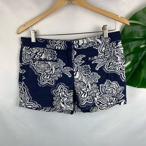 Dalia collection floral print welt pocket shorts